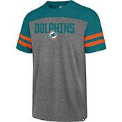 '47 Men's Miami Dolphins Versus Club Grey T-Shirt