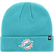 '47 Men's Miami Dolphins Basic Aqua Cuffed Knit Beanie