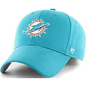 huge selection of 0e734 e88d9 47 Mens Miami Dolphins Clean Up Aqua Adjustable Hat.