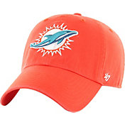 '47 Men's Miami Dolphins Clean Up Orange Adjustable Hat
