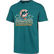 '47 Men's Miami Dolphins Retro Logo Aqua T-Shirt