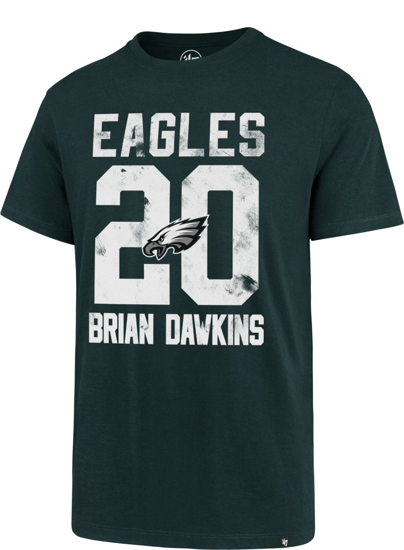 '47 Men's Philadelphia Eagles Brian Dawkins #20 Green T-Shirt