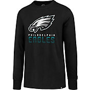 '47 Men's Philadelphia Eagles Rival Black Long Sleeve Shirt