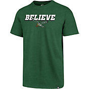 '47 Men's Philadelphia Eagles Believe Green T-Shirt