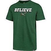 '47 Men's Philadelphia Eagles Believe Green T-Shirt
