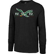 '47 Men's Philadelphia Eagles Fly Eagles Fly Black Long Sleeve Shirt