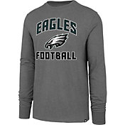 '47 Men's Philadelphia Eagles Game Changer Club Grey Long Sleeve Shirt