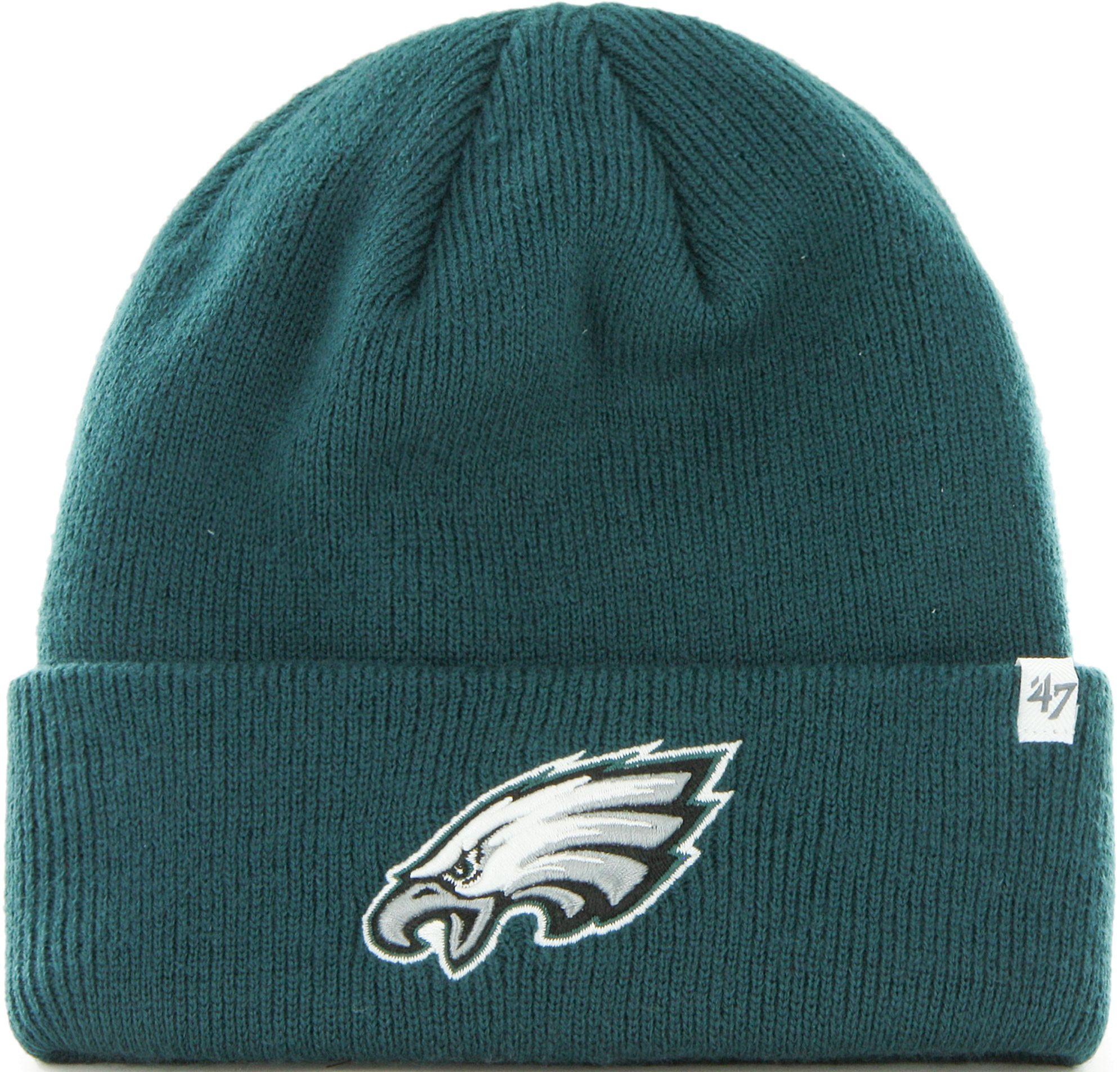 3624063f04614 ... czech 47 mens philadelphia eagles basic green cuffed knit beanie d8460  026bf