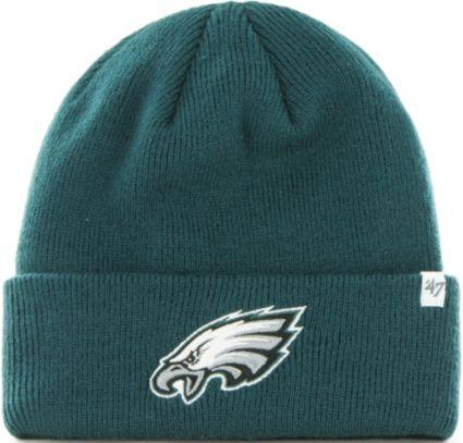 c6c23b9c998 47 Men s Philadelphia Eagles Basic Green Cuffed Knit Beanie