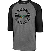 '47 Men's Philadelphia Eagles Legacy Club Grey Raglan Shirt