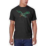 '47 Men's Philadelphia Eagles Scrum Logo Charcoal T-Shirt