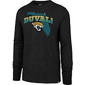 '47 Men's Jacksonville Jaguars Duval Long Sleeve Black Shirt
