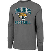 '47 Men's Jacksonville Jaguars Game Changer Club Grey Long Sleeve Shirt