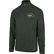 '47 Men's New York Jets Forward Green Quarter-Zip Pullover
