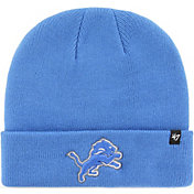 '47 Men's Detroit Lions Basic Blue Cuffed Knit Beanie