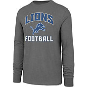'47 Men's Detroit Lions Game Changer Club Grey Long Sleeve Shirt