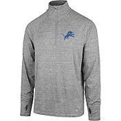 '47 Men's Detroit Lions Forward Grey Quarter-Zip Pullover