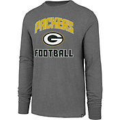 '47 Men's Green Bay Packers Game Changer Club Grey Long Sleeve Shirt