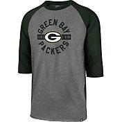 '47 Men's Green Bay Packers Club Grey Raglan Shirt