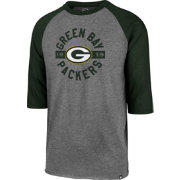 '47 Men's Green Bay Packers Club Grey Raglan Shirt