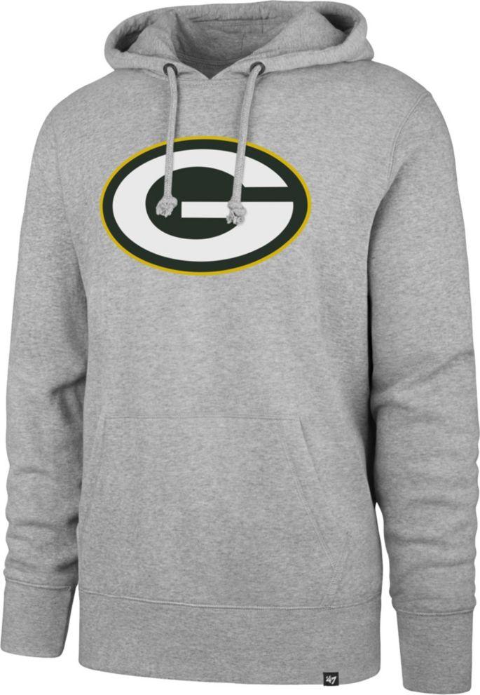 0fdaf057 '47 Men's Green Bay Packers Headline Grey Hoodie
