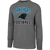 '47 Men's Carolina Panthers Game Changer Club Grey Long Sleeve Shirt