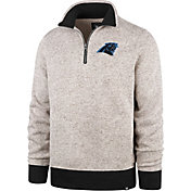 '47 Men's Carolina Panthers Kodiak Quarter-Zip Oatmeal Top
