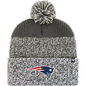 '47 Men's New England Patriots Static Cuffed Charcoal Knit