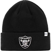 '47 Men's Oakland Raiders Basic Black Cuffed Knit Beanie
