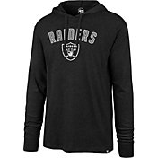 '47 Men's Oakland Raiders Club Black Hooded Long Sleeve Shirt