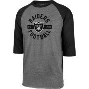 '47 Men's Oakland Raiders Club Grey Raglan Shirt