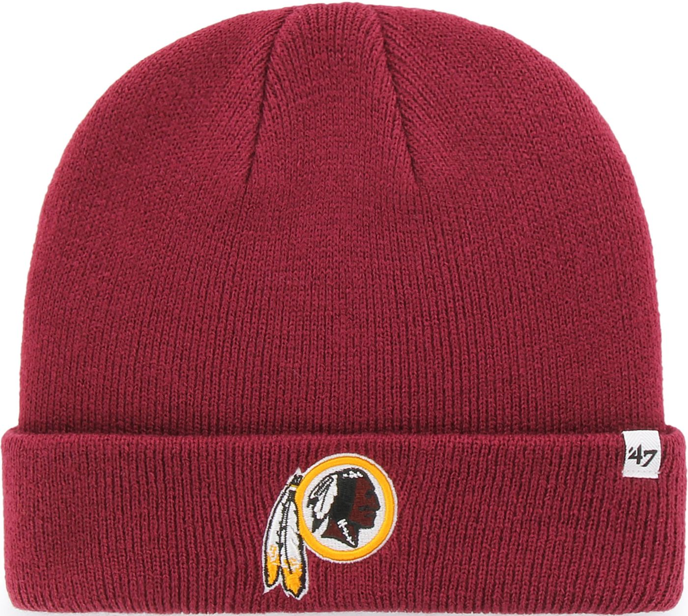'47 Men's Washington Redskins Basic Cardinal Cuffed Knit Beanie