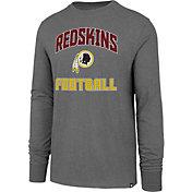 '47 Men's Washington Redskins Game Changer Club Grey Long Sleeve Shirt