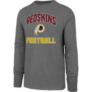 '47 Men's Washington Redskins Game Changer Club Grey Long Sleeve Shirt