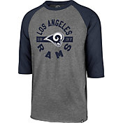 '47 Men's Los Angeles Rams Club Grey Raglan Shirt