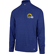 '47 Men's Los Angeles Rams Forward Throwback Royal Quarter-Zip Pullover
