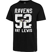 '47 Men's Baltimore Ravens Ray Lewis #52 Black T-Shirt
