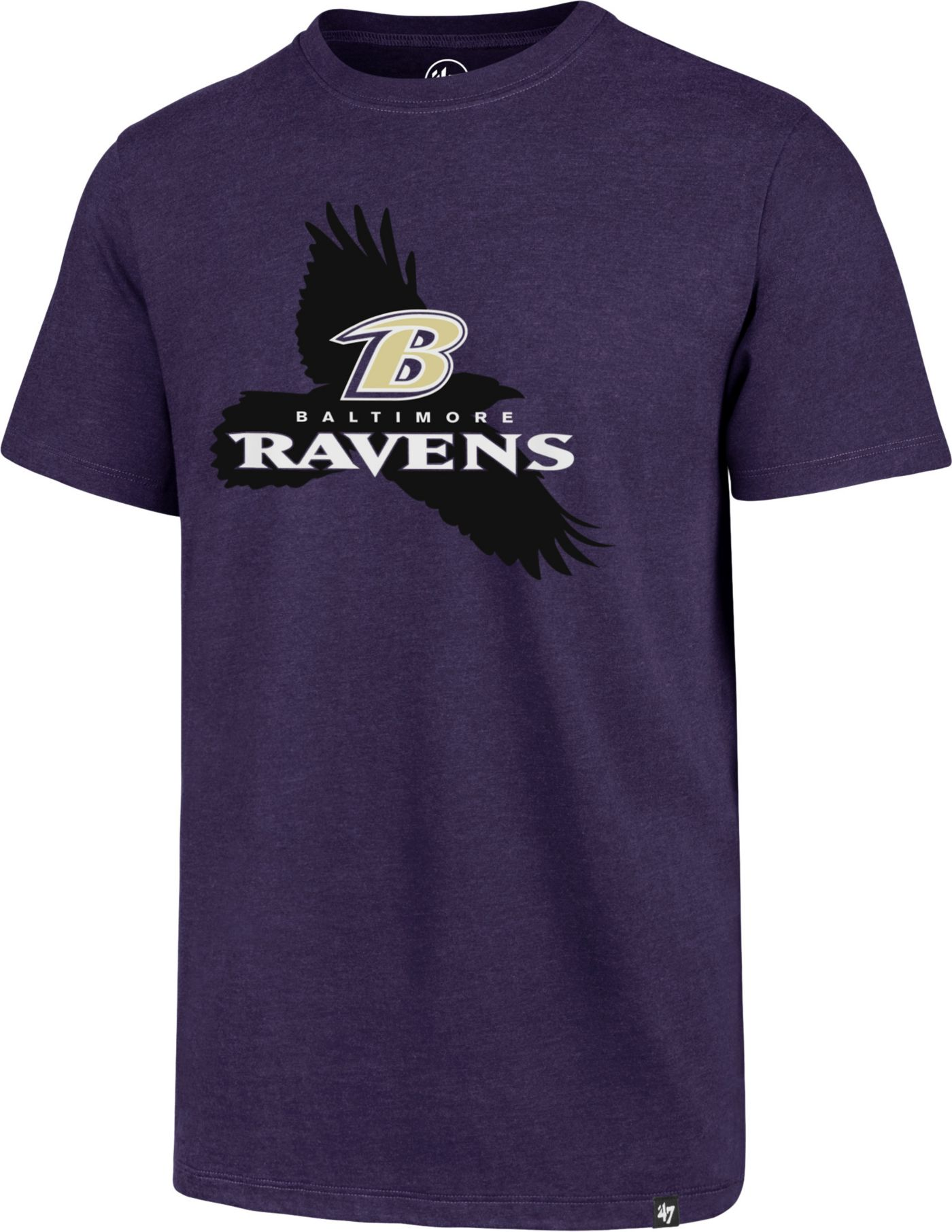 '47 Men's Baltimore Ravens Raven Purple T-Shirt