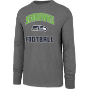 '47 Men's Seattle Seahawks Game Changer Club Grey Long Sleeve Shirt