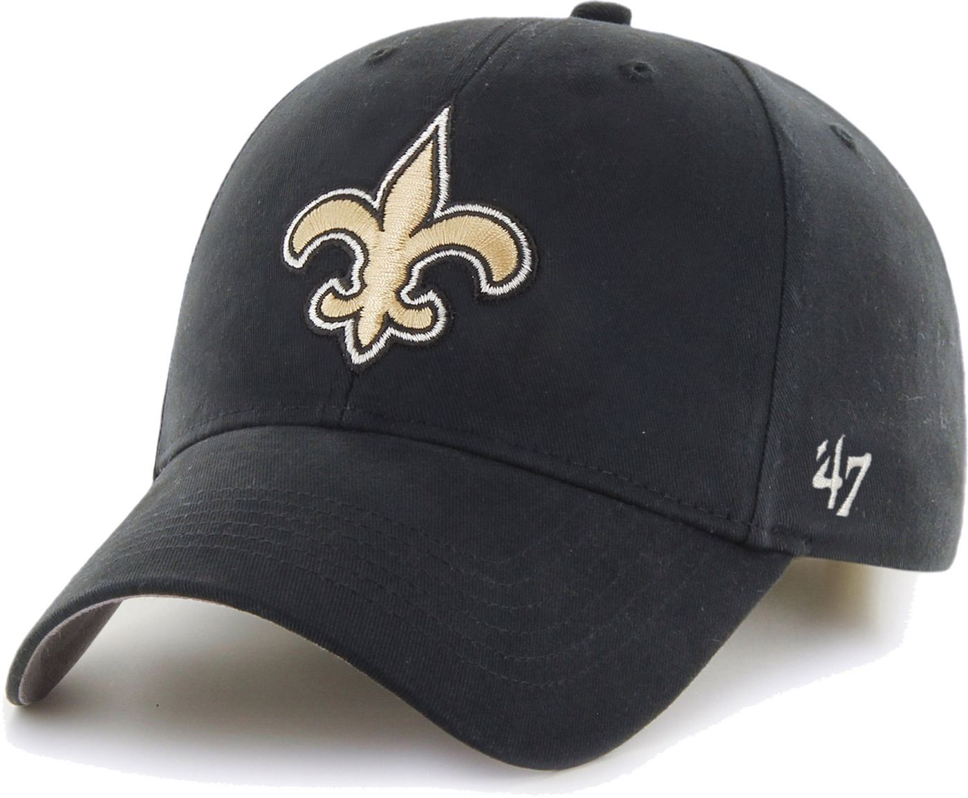 '47 Boys' New Orleans Saints Basic MVP Kid Black Hat