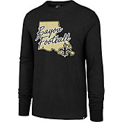 '47 Men's New Orleans Saints Bayou Football Club Black Long Sleeve Shirt
