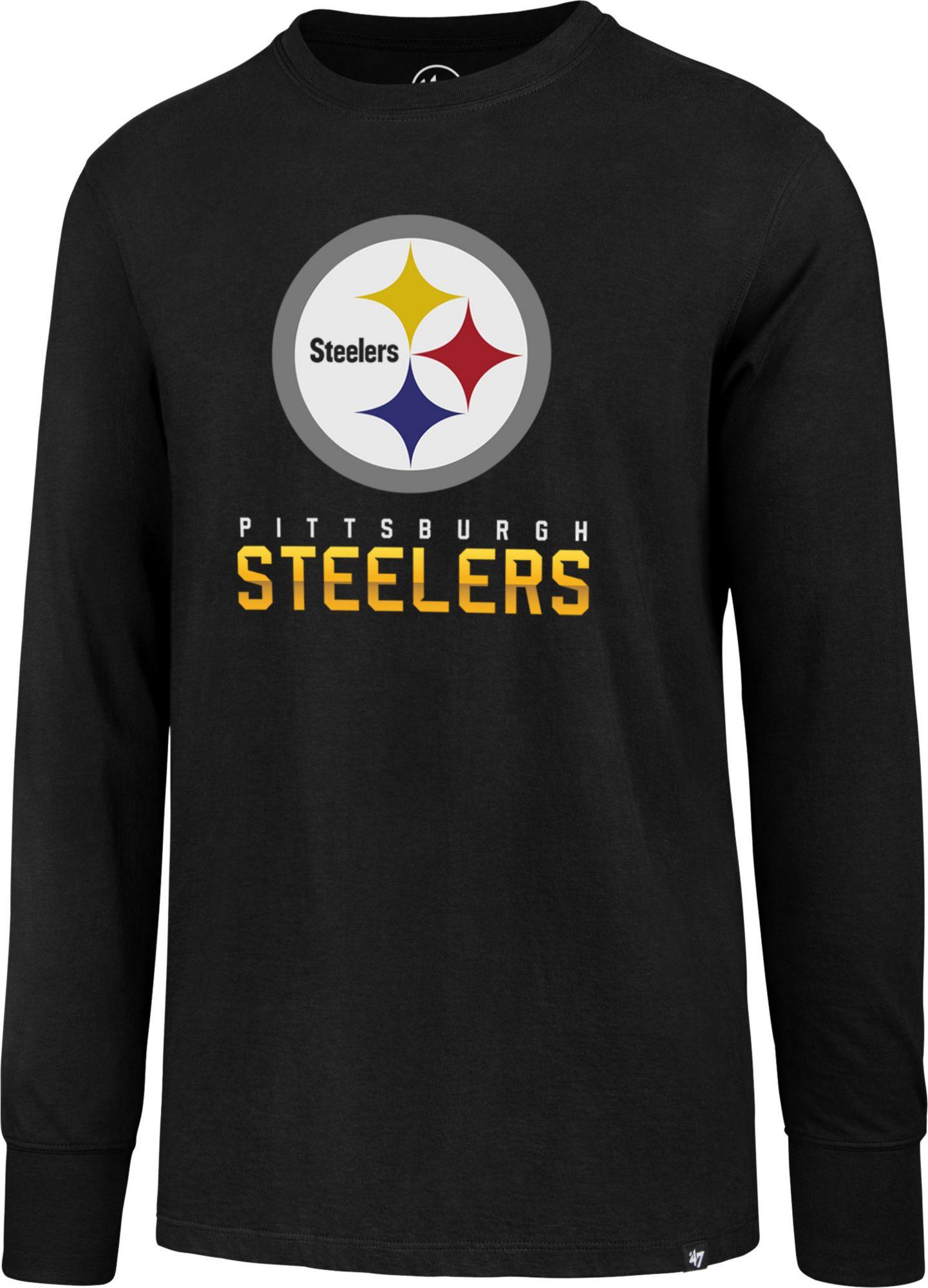 30eb5f805 47 Men s Pittsburgh Steelers Rival Black Long Sleeve Shirt