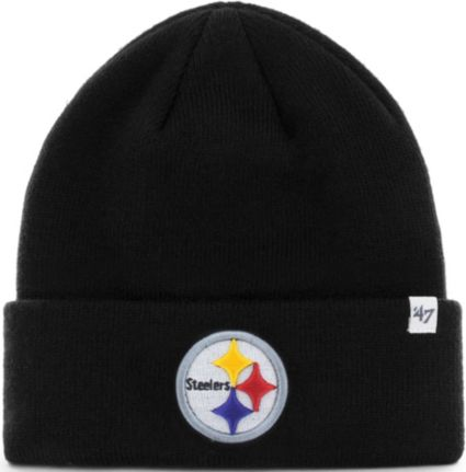 1b01e21f '47 Men's Pittsburgh Steelers Basic Black Cuffed Knit Beanie