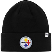 '47 Men's Pittsburgh Steelers Basic Black Cuffed Knit Beanie