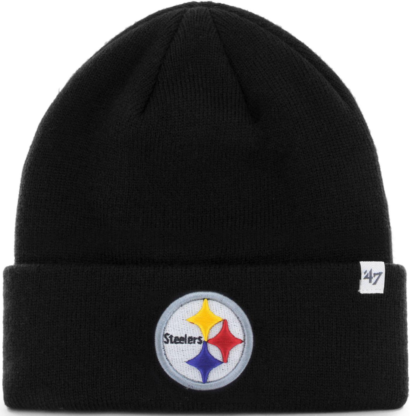 '47 Men's Pittsburgh Steelers Basic Black Cuffed Knit Beanie