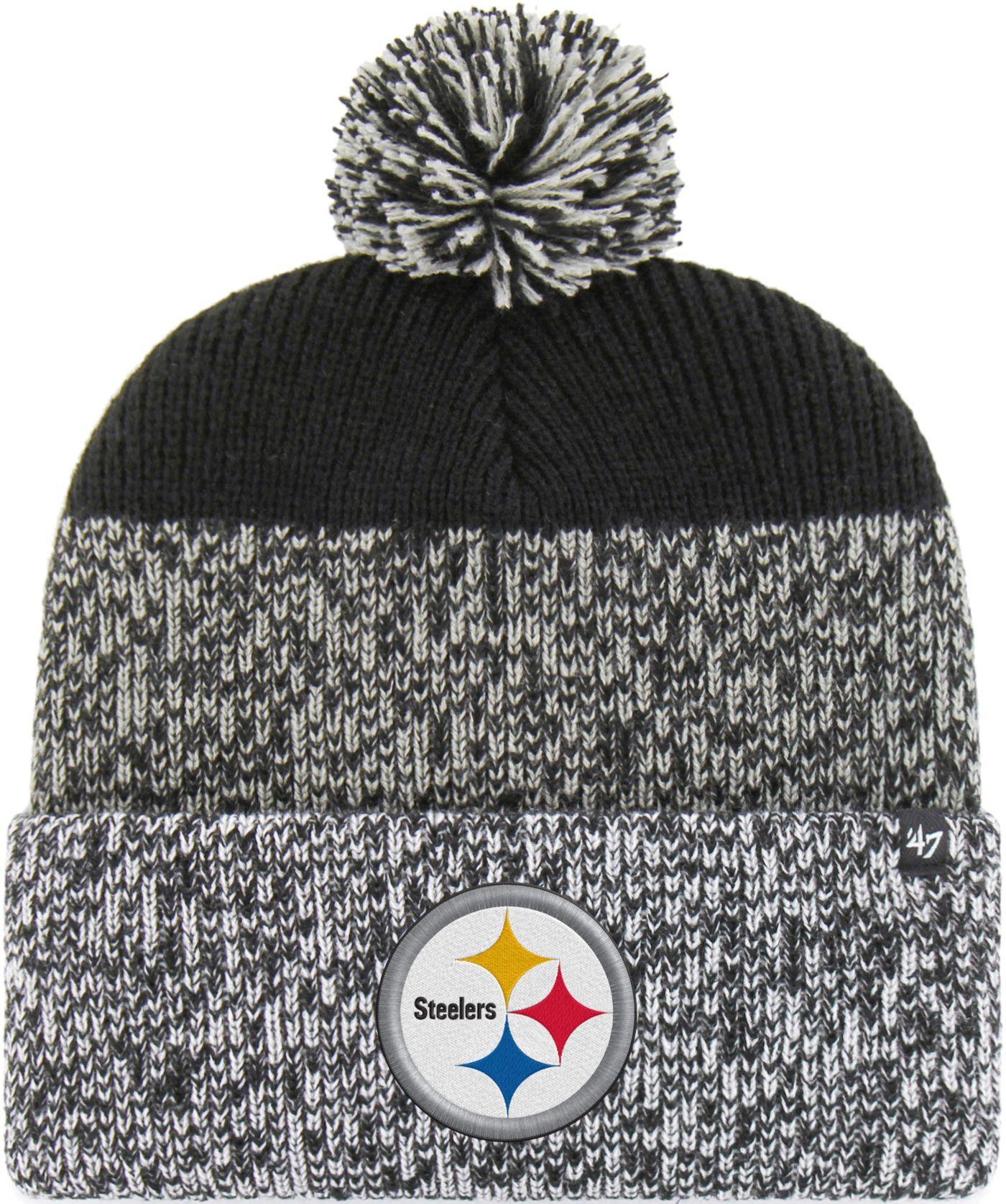 '47 Men's Pittsburgh Steelers Static Cuffed Black Knit