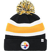 Product Image ·  47 Men s Pittsburgh Steelers Breakaway Cuffed Black Knit.   7237805e8b5