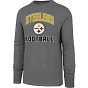 '47 Men's Pittsburgh Steelers Game Changer Club Grey Long Sleeve Shirt