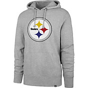 '47 Men's Pittsburgh Steelers Headline Grey Hoodie