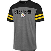 '47 Men's Pittsburgh Steelers Versus Club Grey T-Shirt